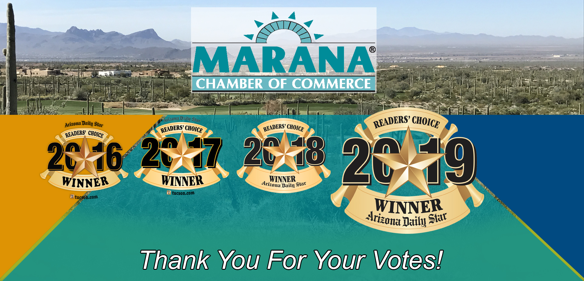 Marana Chamber of Commerce Reader's Choice 2019 Winner